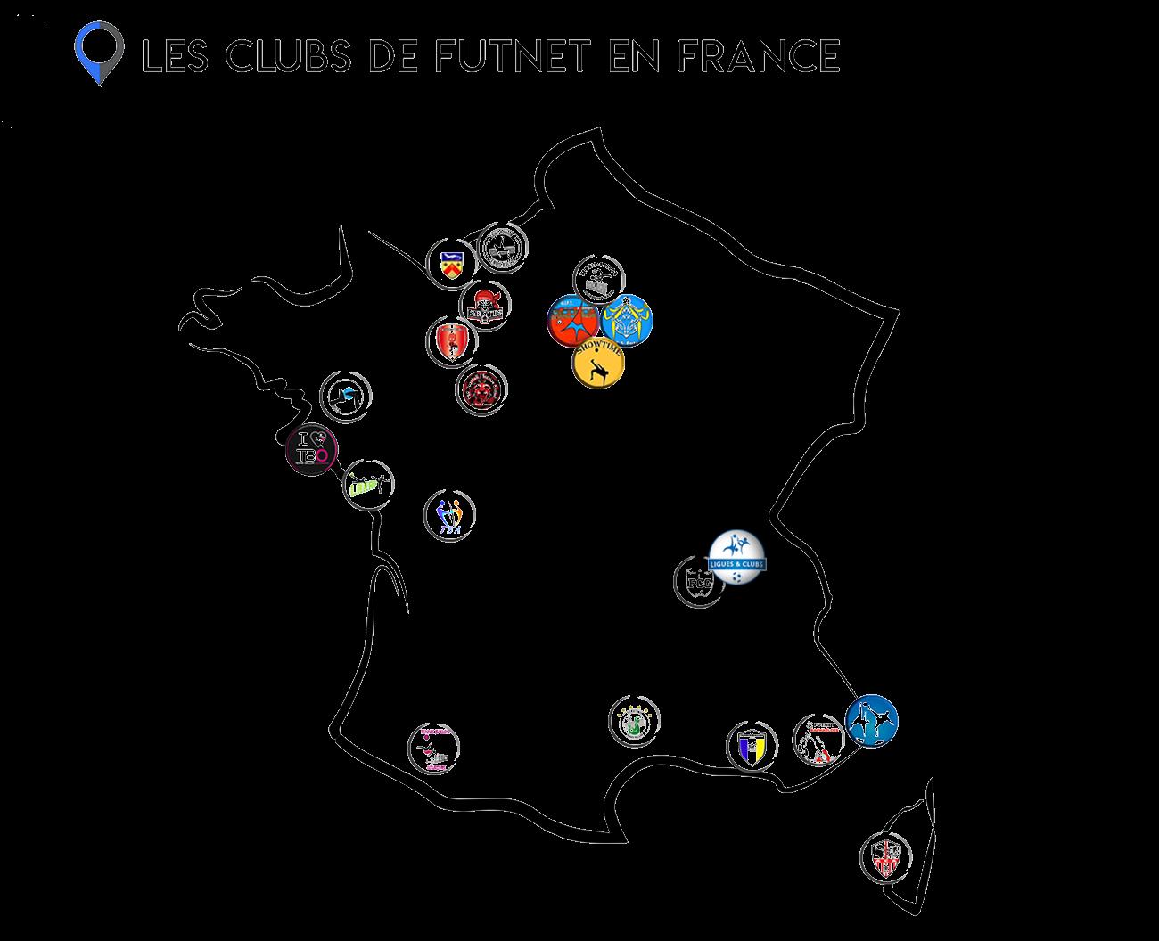 Cartographie des clubs